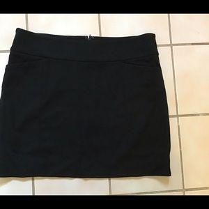 WHBM Black Ponte Stretch Mini Skirt Sz S EUC!